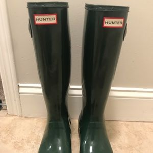 Original Tall Gloss Rain Boots - Hunter Green
